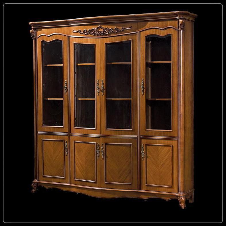 Купить шкаф книжный (4 двери, темный цвет) 2617000 carpenter.